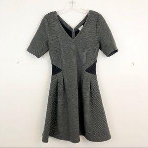 Anthropologie HD in Paris Textured V Neck Dress